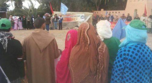 وقفة احتجاجية ببيوكرى تضامنا مع العمال/ات المطرودين والموقوفين عن العمل